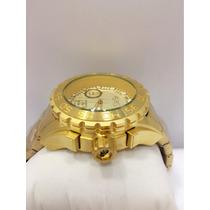 Relógio Masculino Original Atlantis Dourado Resistente Agua