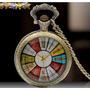 Relógio De Bolso Colorido, Com Números Romanos