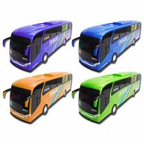 Brinquedo Onibus Miniatura Iveco Menino Brincar - 04 Cores