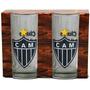Conjunto 02 Copos Kit Atlético Mineiro Oficial Drink Galo