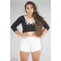a4fb1039f Shorts Jeans Femininos Cós Alto Cintura Alta Varias Cores à venda em ...
