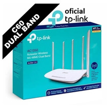 Roteador Wi-fi Tp-link Archer C60 Dual Band Ac 1350mbps