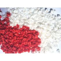 100 Rosa De Cetim Tamanho 1cm Rosinhas Flor Laços Lacinhos