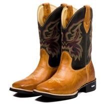 f15c5818c4 Bota Masculina Country Texas Rodeio Cano Longo Couro Nobre