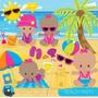 Kit Scrapbook Digital Praia Surf Hawaii Imagens Cod 11