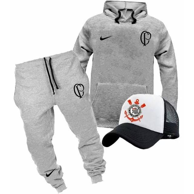 Kit Corinthians Blusa Boné Calça Moletom Futebol em Congonhas - MG ... e0687435d94