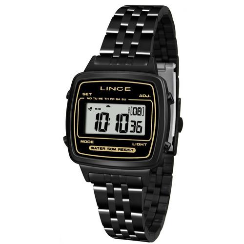 8aa184dc00e Relógio Lince Feminino Digital Preto Sdph068l Original Novo - R  229 ...