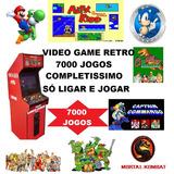 Mega Drive + 7000 Jogos  Retro Video Game