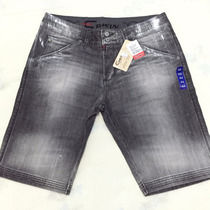Bermuda Jeans Masculina Edwin - Com Apliques - Tamanho 44