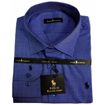 Camisa Social Masculina Polo Rfl02 Azul Marinho