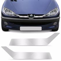 Friso Cromado Grade Peugeot 206 Adesivo Tuning 206 Cromada