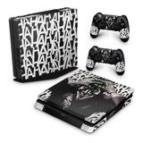 Skin Ps4 Slim Adesivo Playstation 4 Coringa The Joker