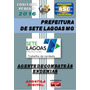 Apostila Pref Sete Lagoas Mg Agente Combate Endemias 2016