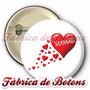 20 Botons Broches Botton Dia Das Mães Coração 2,5cm