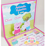 20 Convites Pop Up 3d Peppa Pig