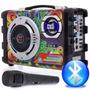Caixa Som Amplificada Portatil Mk-b29 Mp3 Radio Fm Usb Sd