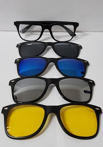 a61f82133 Óculos De Grau Com Clip On Masculino Baly Hay - 06