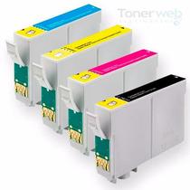 Kit 4 Cartuchos P/ Impressoras T25 Tx125 Tx123 Tx133 Tx135