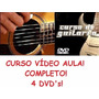 Curso De Guitarra E Violão! Aulas Em 4 Dvds Ert