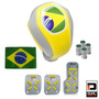 Kit Copa Do Mundo Completo Interior Automotivo Amarelo