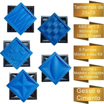 5 Formas De Gesso 3d E Cimento Abs 1,3mm+eva Vários Modelos