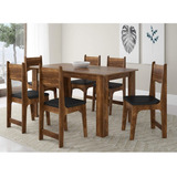 Sala Jantar 6 Cadeiras Nicoli Siena Móveis Ic