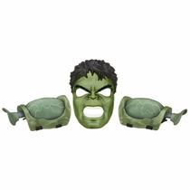 Brinquedo Avengers Age Of Ultron Hulk Músculos E Máscara