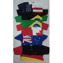 Camisa Polo Paises Argentina, Estados Unidos E Australia.