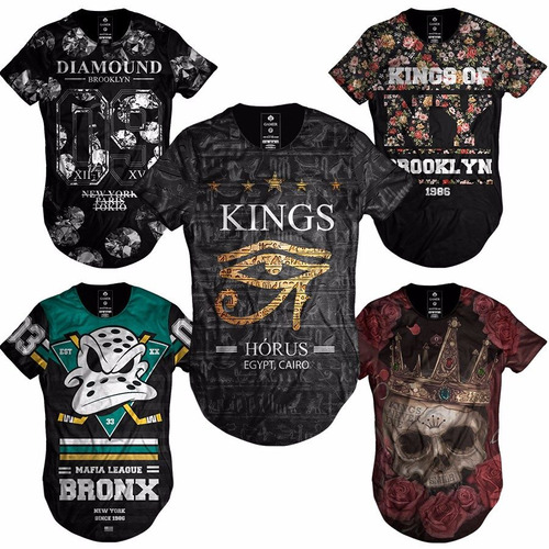 716e793fe3 Camiseta Camisa Blusa Longline Oversized Swag Masculina Moda R 46.9 ...