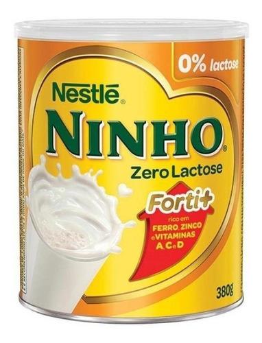 Fórmula Infantil Em Pó Nestlé Ninho Forti+ Zero Lactose Em Lata De 380g