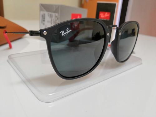 25cfedff5783f Óculos Sol Ray-ban Scuderia Ferrari Rb2448 Aço Preto E Cinza