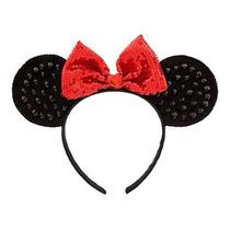 Disney Store Tiara Arco Minnie Orelhinha Vermelha Original