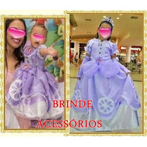 Fantasia Princesa Sofia -fantasia Princesinha Sofia