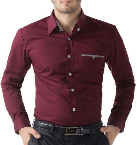 2b398d8e3b Camisa Social Slim Fit Estilo Ocidental Frete Grátis P  2 Un