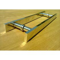Puxador Plano Reto Em Alumínio Para Porta De Vidro E Madeira