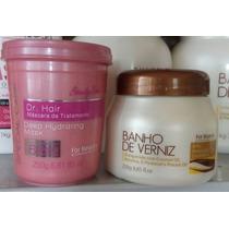 Máscaras De Hidratação Dr Hair E Banho De Verniz For Beauty