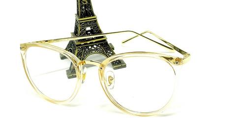 e7473537085ca Óculos Armação De Grau Feminino Redondo Geek Metal C  Brinde