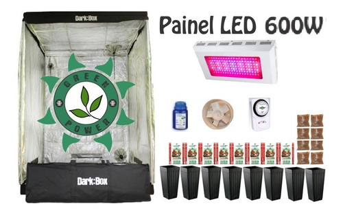 Kit Cultivo Indoor Estufa 140x140x200 Grow Completo Led 600w