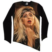Camisetao Blusa Moletom Oversized Long Line Bico Lady Gaga