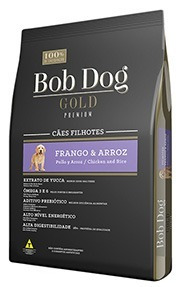 5 Sacos Ração Bob Dog Gold Premium 1kg Filhotes