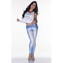 Calça Legging Lipsoul Girls Fake Jeans Aline Riscado !!!