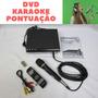 Dvd Music  Mp3  Karaokê Microfone Usb Gravação Pontuação