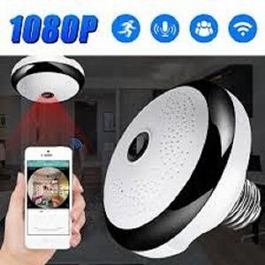 4eb267dc6de56 Lâmpada Espiã Câmera Ip Led Wifi Hd Panorâmica 360º Celular. R  380