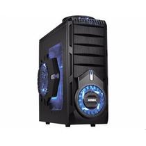 Gabinete Gaming 4 Baias Preto Led Azul Cg-30s1 K-mex®