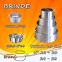 Forma Para Bolo Torta 10 Cm Em Alumínio Kit 4 Pçs   Brindes