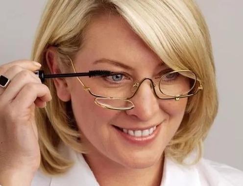 8b38eab47 Óculos Maquiagem Metal 2 Lentes Para Perto - Grau 4,00