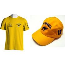 Kit Camisa + Boné F1 Lotus Honda Camel Ayrton Senna