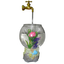 Aquario Magico Fonte De Agua Com Torneira Para Decoracao Led