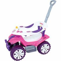 Carrinho De Passeio Infantil Menina Rosa Empurrador Sofy Car