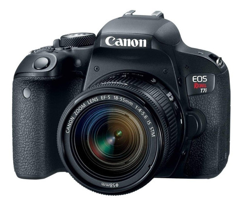 Canon  Eos Rebel T7i 18-55mm Is Stm Kit Dslr Preta